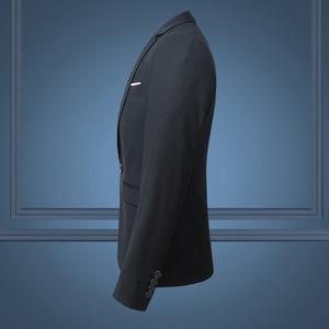 Image 3 - Black Classy Mens Blazer Jacket One Button Slim Wedding Suit Men Solid M 3XL Mens Casual Blazers White Customizable Big Size