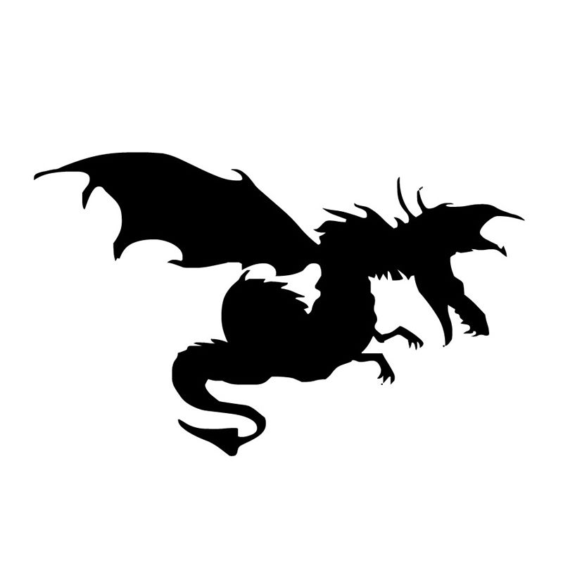 Removable Dragon With Wings Art Design Wall Sticker Vinyl Wall Sticker For Home Living Room Decoration Animal Wall Mural Y 690 in Wall Stickers from Home Garden