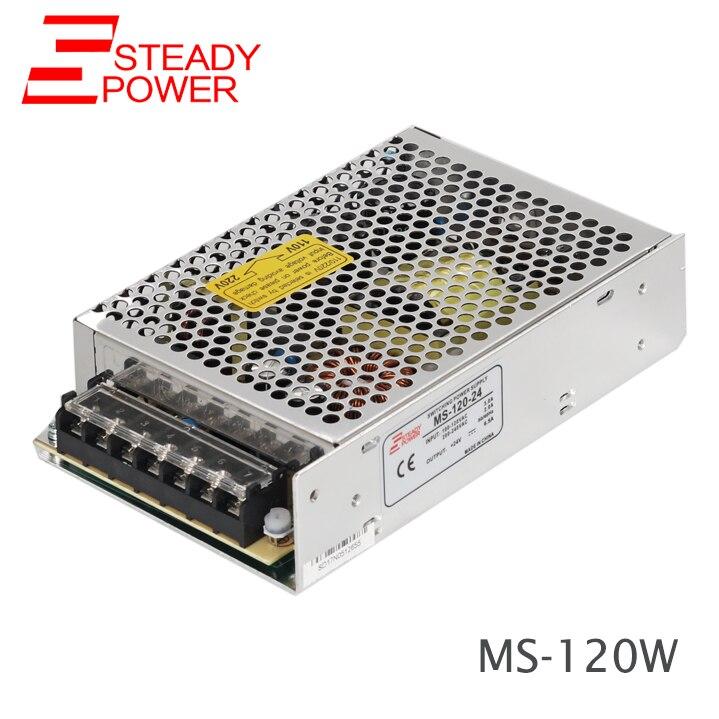 Mini Smps 120 watt 24 Volt 5 Amp NETZTEIL 220 Vac bis 24 Vdc Strom Versorgung für Cctv Kamera MS-120-24