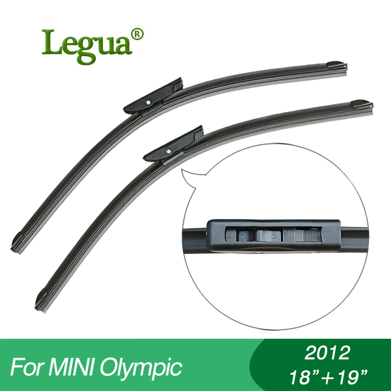 "Legua Wiper blades for Mini Olympic(2012),18""+19"",car wiper,Boneless wiper, windscreen wiper, Car accessory(China)"