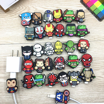 100pcs Cartoon USB Cable Protector Management Data Line Organizer Clip Protetor De Cabo Cable Winder For iPhone Samsung Huawei