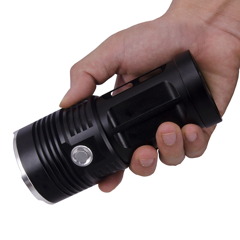 Golden/Black Stark Led Torch 5000 Lumen Flashlight CREE XM-T6 Lamp Outdoor torcia led subacquea - Smart Pet Electronic Technology Co., Ltd. store