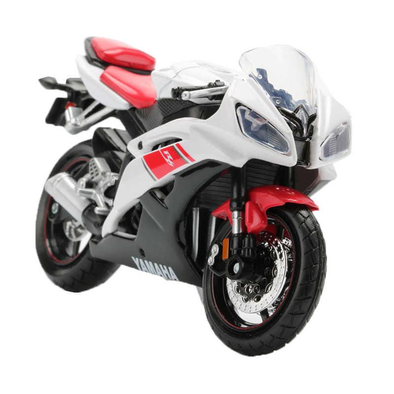 Maisto 1:18 Motor Mainan Paduan Sepeda Motor Model YZF R1 R6 Fjr 1300 Yz 450F Peta Bintang Koleksi Anak Laki-laki Mainan Mobil hadiah