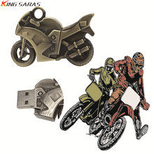 New Usb Flash Drive 2.0 High Speed 128GB 4GB 8GB 16GB 64GB Pen Drive Metal Motorcycle Car Memory Stick 32GB Pendrive For Gift(China)