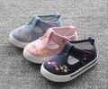 2016 Стелька 13 ~ 16.3 см цветы дети shoes ребенок случайные shoes новорожденных девочек холст shoes розовый свет темно-синий
