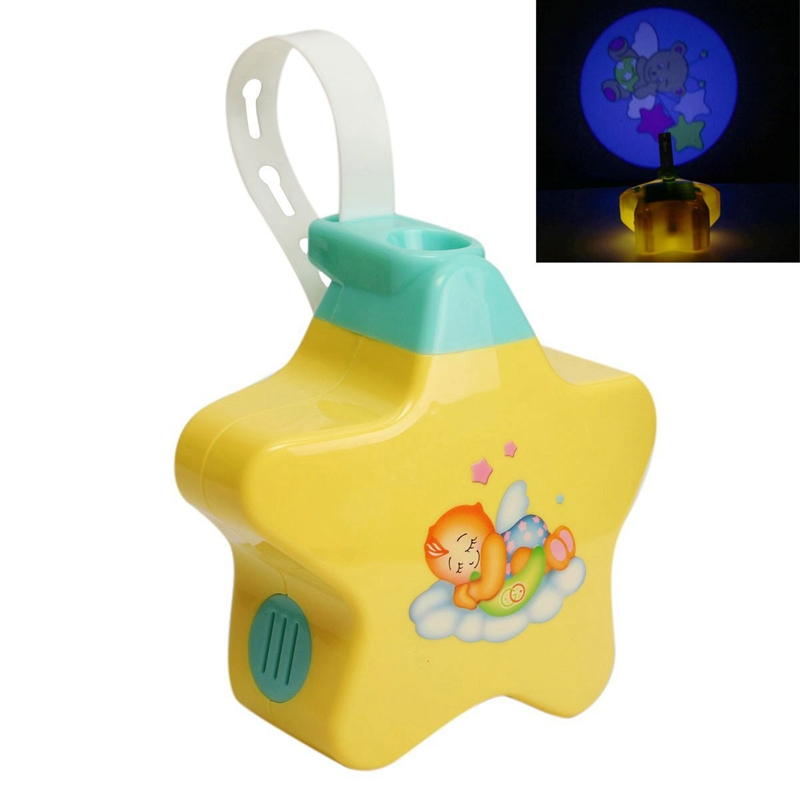 Baby yellow night light projector starlight star dream show baby yellow night light projector starlight star dream show musical light battery power cot mobile toys for baby top gift in led night lights from lights mozeypictures Image collections