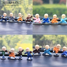 1set Figurines Miniatures Shaolin Drunken Boxing Monk Creative Gifts Resin Home Decorations Automotive Interior Decor