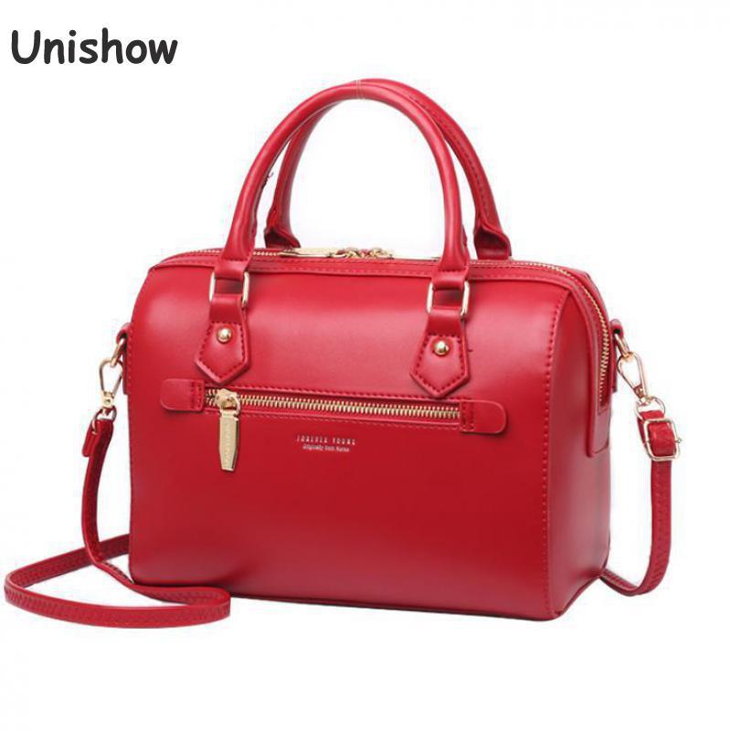 a679a4fc439 Hot Sale] Burminsa Retro Boston Women Genuine Leather Handbags Large ...