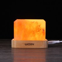 Crystal Himalayan Salt Lamp Air Purifier Night Light USB Power Desk Lamp Bedside Bar Coffee Shop