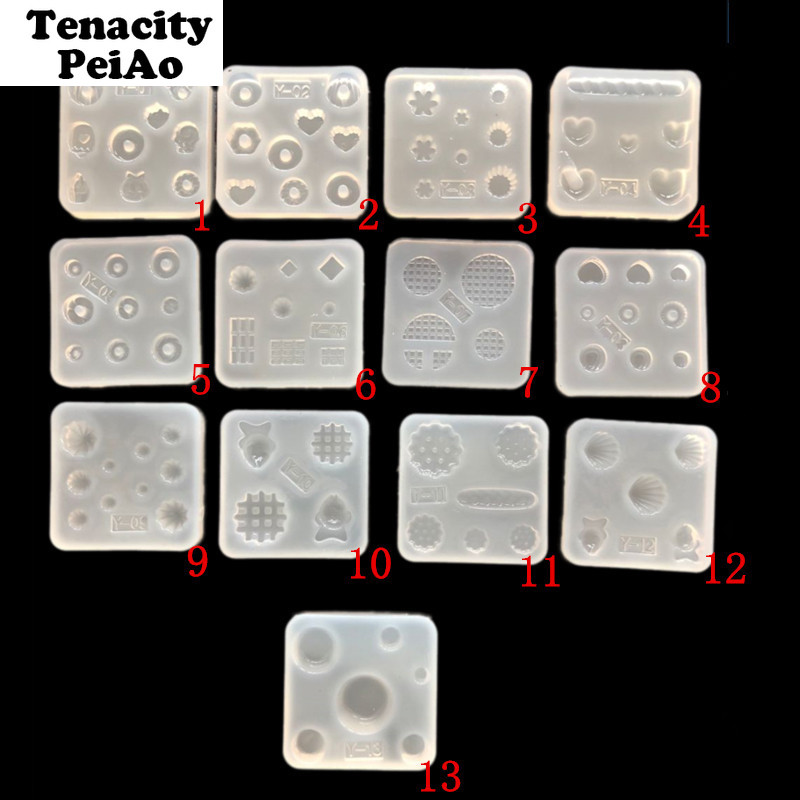 Transparent Silicone Mold For Resin Jewelry Epoxy Uv Resin Molds Pendnat Jewelry Making Tools