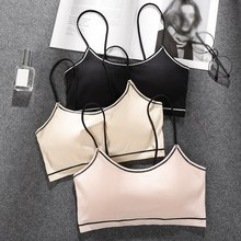 Women Strapless Tube Top Bralette Crop Chest Pad Wearing Bra Fashion Wire Free Bras For Sexy Underwear Femme