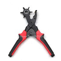 1Pcs New 6 Size Heavy Duty Leather Hole Punch Hand Pliers Belt Holes Punched Punching Plier