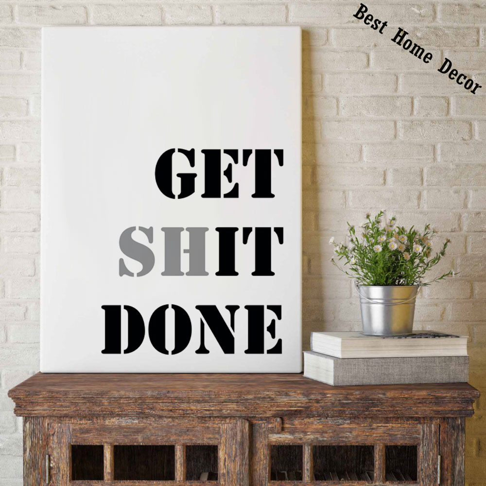 Aliexpress.com : Buy Get It Down Poster Fine Art Paper Quotes ...