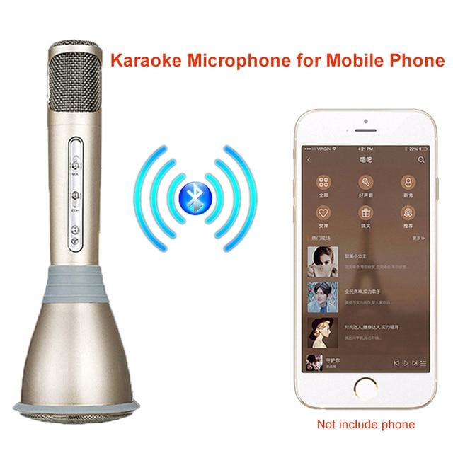 K068 Wireless Microphone Professional Bluetooth Portable Handheld Karaoke Microphone Wireless for Karaoke KTV Singers