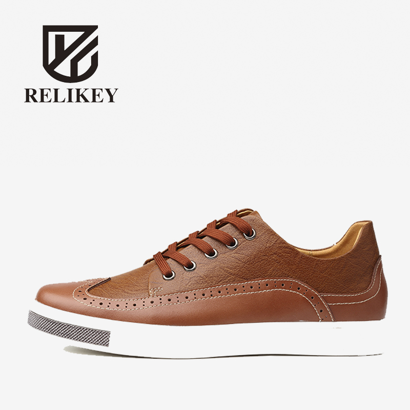 RELIKEY Brand Men Loafers Handmade Genuine Leather Lace-up New Big Size Summer Casual Male Flats Fashion Breathable Shoes Men hot fashion casual men leather shoes loafers flat shoes for male genuine leather breathable men flats lace up moccasin zapatos