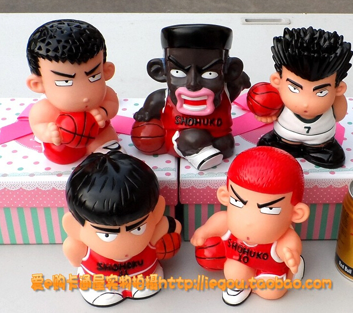 ФОТО 12cm 5pcs/set Slam Dunk Sakuragi Hanamichi Rukawa Kaede Action Figures PVC brinquedos Collection Figures toys for christmas gift