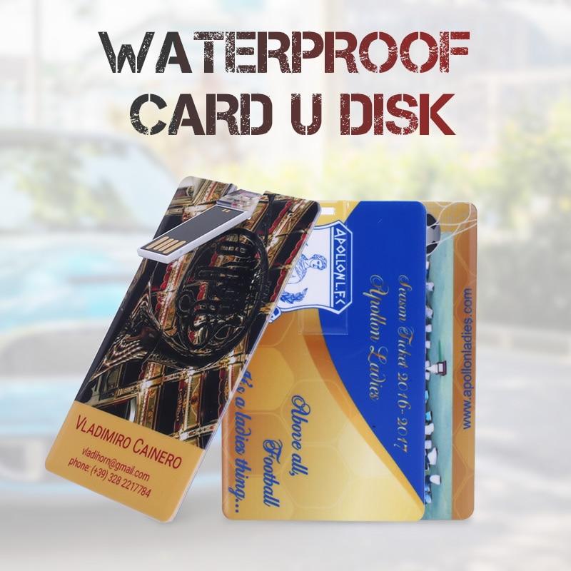 10 PCS / LOT Kartu Kredit Bisnis Usb flash drive Pen memory stick - Penyimpanan eksternal - Foto 2