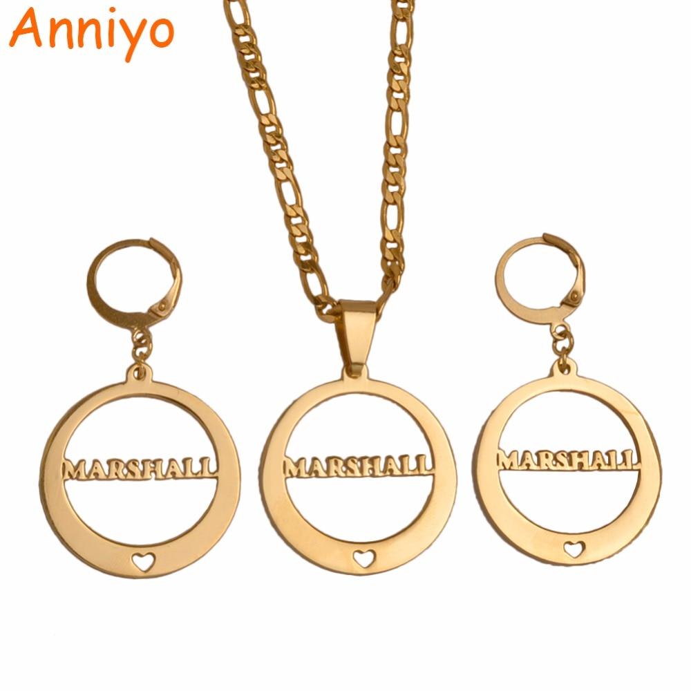 Anniyo Маршалл множества ювелирных изделий с сердцем из Подвески и Серьги для Для женщин (больше моделей пожалуйста, проверьте мой магазин) #...
