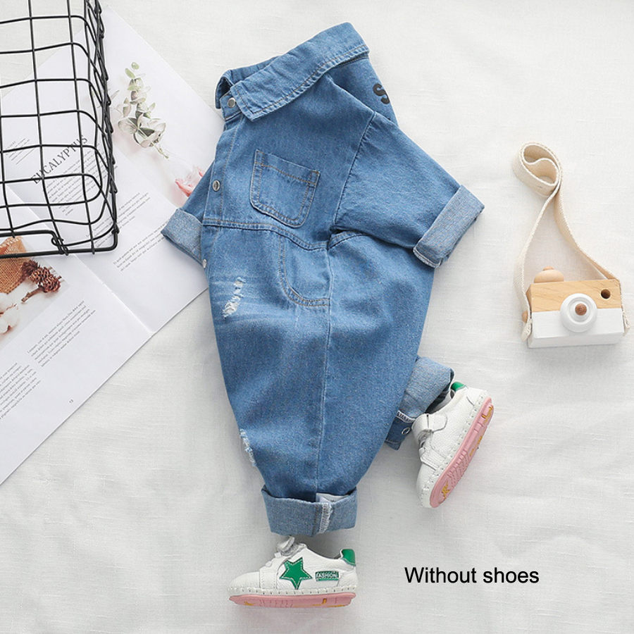 319eb43e8 IYEAL New Arrivals Soft Denim Baby Romper Infant Clothes Newborn ...