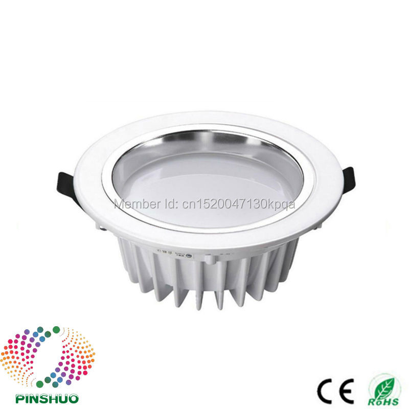(10PCS / Lot) Garantía 3 años 30W 24W 18W 12W 7W 5W LED Downlight Dimmable LED Down Light COB Lámpara de techo proyector