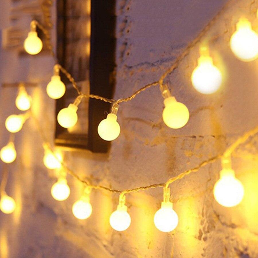 Thrisdar 100 m 800LED del Globo della Sfera Di Natale LED Leggiadramente Della Stringa Della Luce Esterna Giardino Patio Cortile Festa di Nozze Globo di Luce Fata - 4
