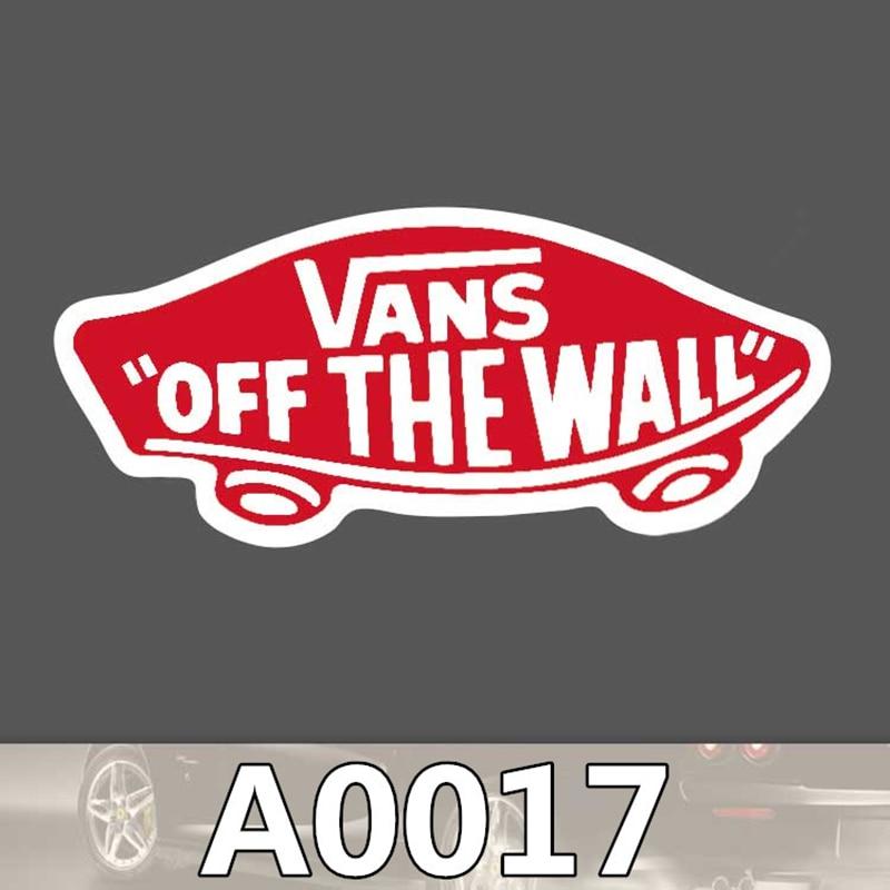 2pcs/bag Vans Off The Wall Sticker Travel Skateboard Trolley Sticker Body Sticker Cartoon Graffiti PVC Waterproof Sticker A0116