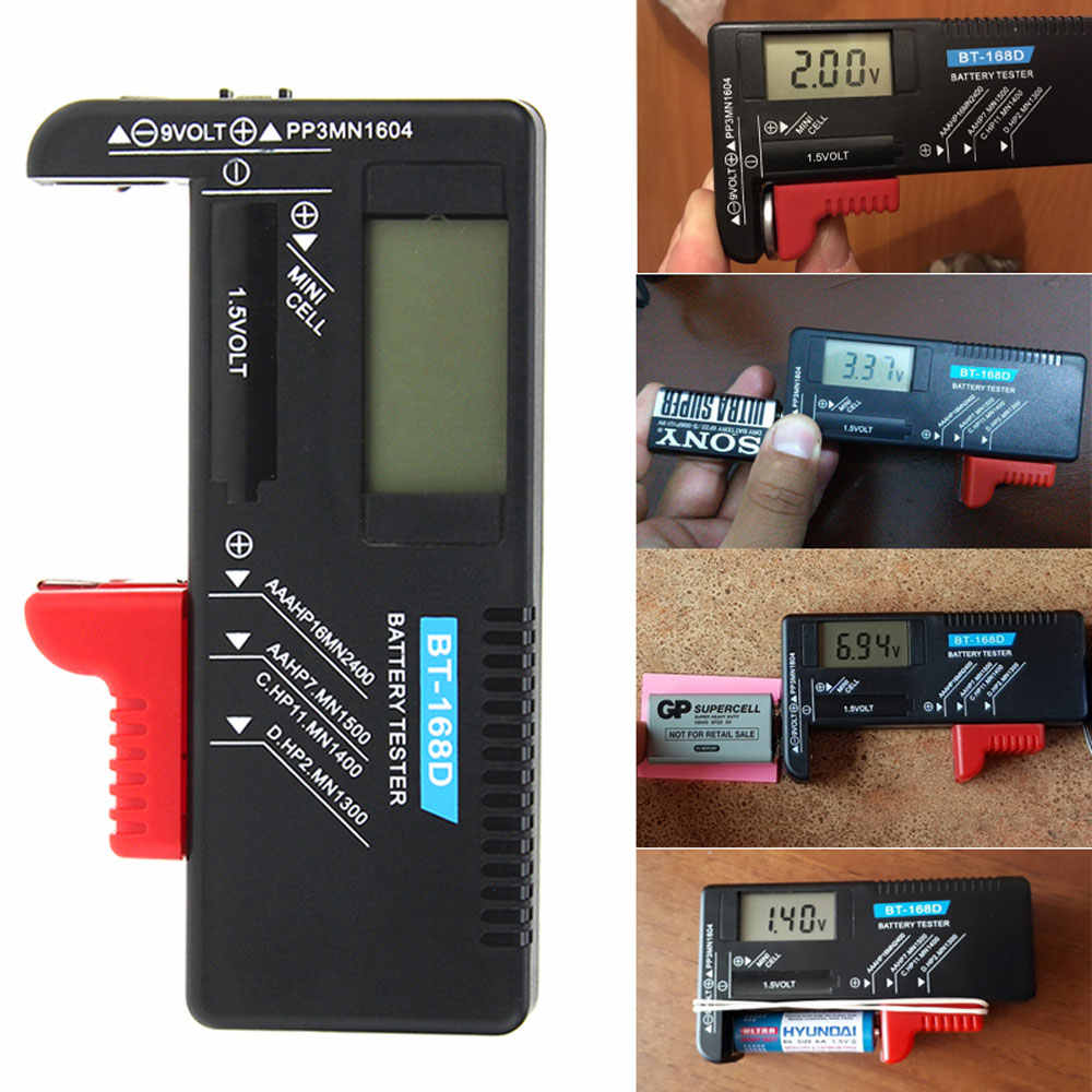 BT-168 Digitale Batterij Indicator Capaciteit Diagnostic Tool Batterij Tester Colour Coded Tester Batterij Capaciteit Test Gereedschap
