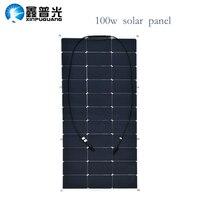 new high efficiency 16v 100w solar panel flexible solar cell 12v system DIY kit for RV car Home powered painel solar