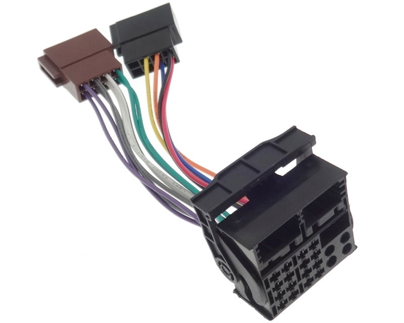 Connection cable radio B.M.W V.W DB OPEL FORD NAVI Quadlock ISO cable adapter plug(China)