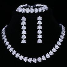 Emmaya Heißer Verkauf Luxus Brautschmuck Sets Für Frauen Sparkling AAA Zirkon Gepflasterten Durch Hand 3 stücke Hochzeit Schmuck Set