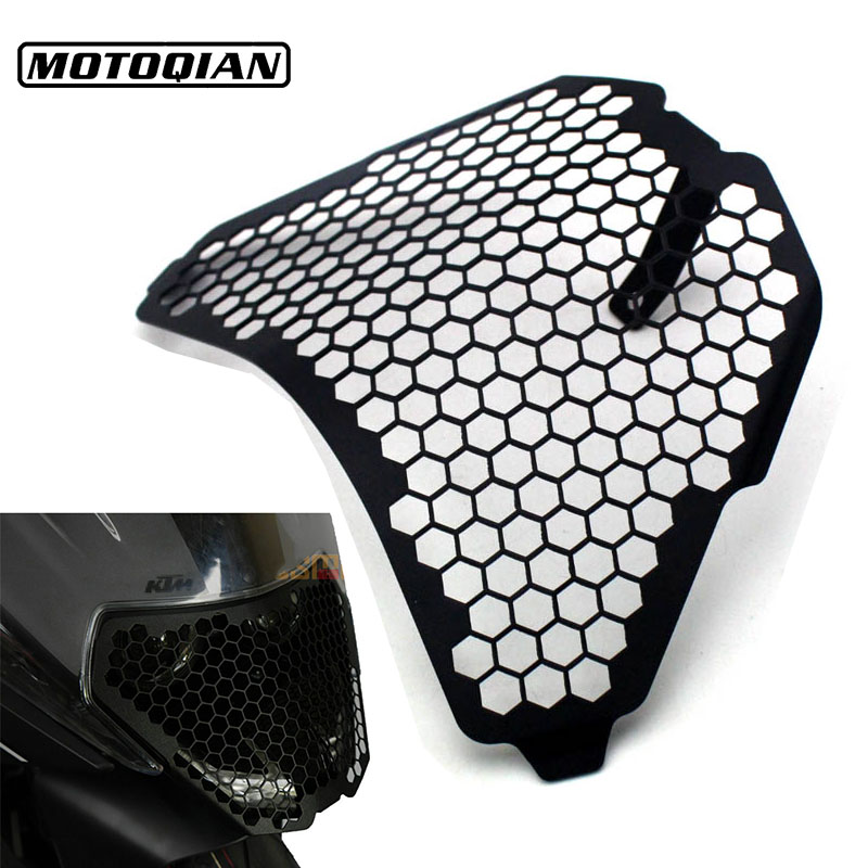 CNC Aluminum Headlight Guard Grille Protector Cover Protectors For KTM RC125 RC200 RC390 2016 2015 2014 Motorcycle Accessories nicecnc motorcycle cnc rear axle blocks chain adjuster for ktm rc 125 200 390 duke 2011 2015 2016 2017 2018 rc125 rc200 rc390