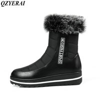 QZYERAI Winter warm flat snow boots down thin women's shoes suitable for low temperature weather casual waterproof female boots