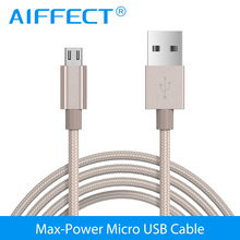 AIFFECT Micro USB Cable Fast Charging Mobile Phone Android Cable Adapter 2.4A 2m USB Data Charger Cable for Huawei Samsung LG цена в Москве и Питере
