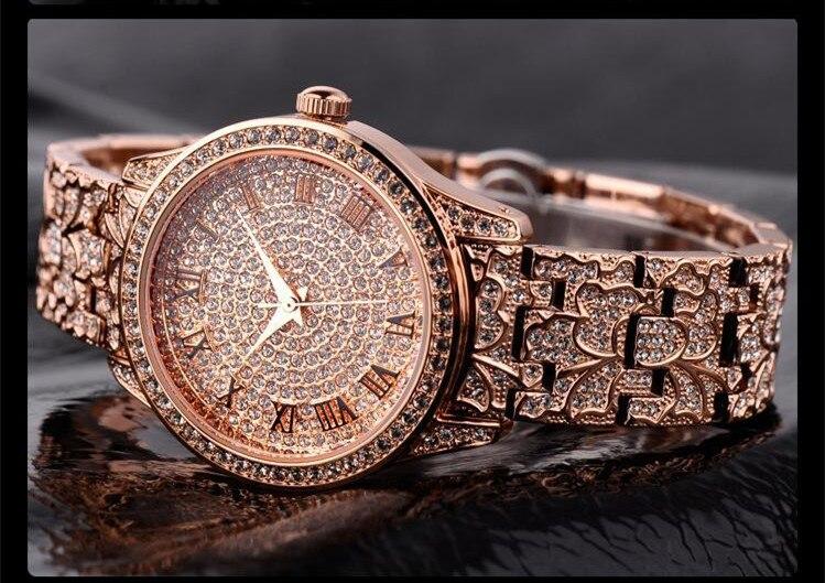 Vintage Palace élégant femmes Bracelet montres Quartz élégant dame robe Montre-Bracelet cristaux romains Relogios 3ATM Montre Femme