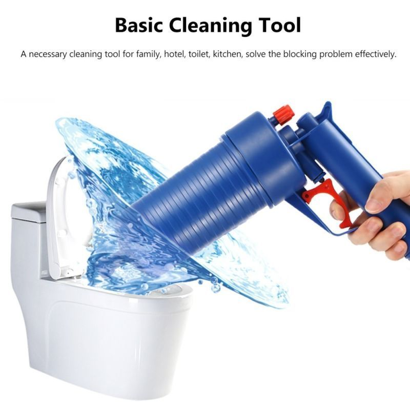 Image 4 - Air Power Drain Blaster Gun High Pressure Powerful Manual sink Plunger Opener cleaner pump for Bath Toilets Bathroom Shower-in Drain Cleaners from Home & Garden