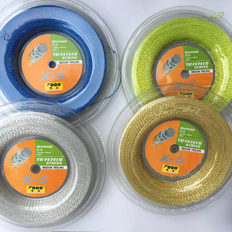 FREE Shipping Topo X5 tennis racket string 1.35mm Tennis Racket String Reel 200 Meters Nylon Strings