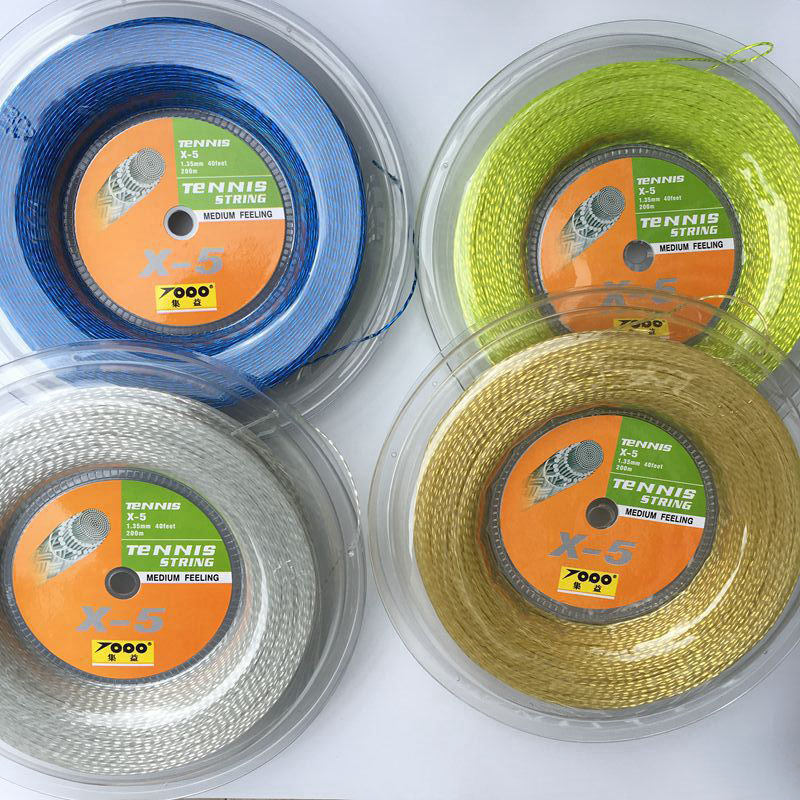 FREE Shipping Topo X5 tennis racket string 1.35mm Tennis Racket String Reel 200 Meters Nylon Strings zarsia 200m flash nylon tennis string 16g 1 35mm multifilamen tennis rackets string squash strings synthetic tennis strings