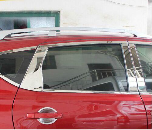 Chrome Rear Door C Pillar trim For Nissan Qashqai  2007 2008 2009