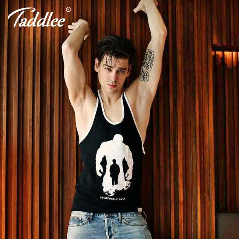 Taddlee Brand Män Tank Top T-shirts Mufffri Bomull Casual Stringer - Herrkläder