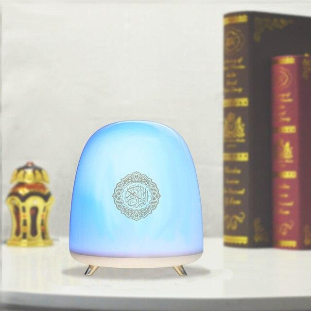 Bezprzewodowy głośnik Bluetooth muzułmanin koran lampka nocna Smart Touch zdalnie sterowanie światło led głośnik czytający koran Ramadan pielgrzymka prezent