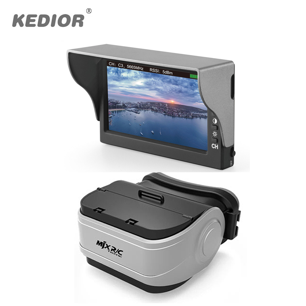 MJX D43 5.8G FPV 4.3 inch LCD screen With G3 VR Glasses RC Brushless Drone Spare Parts fits for C5820(Bugs 3) and C5830(Bugs 6) купить внешний жский диск в паттайе