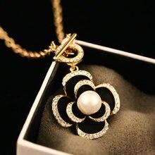 Женское колье из золотистого металла модные роскошные ювелирные