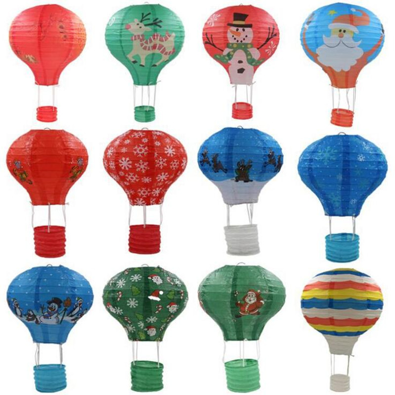 2018 New Hot Air Balloon Rainbow Paper Lanterns Ball Kids Bedroom Decor Hanging Gift Craft Birthday Festival Party Decoration