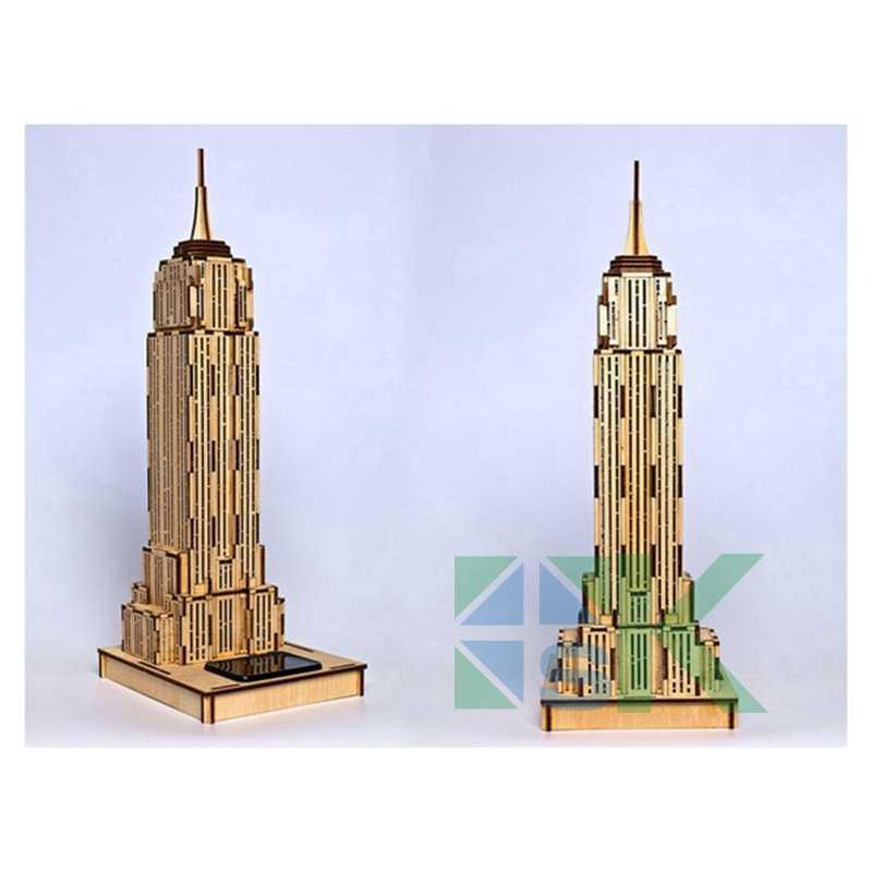 2016 хит продаж образовательная 3D Экологическая Солнечная модель головоломки Эмпайр Стейт Билдинг творческие подарки