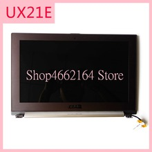 UX21E LCDจอแสดงผลครึ่งชุดสำหรับAsus UX21Eแล็ปท็อปจอแสดงผลLCD Digitizerหน้าจอกรอบทดสอบการทำงาน