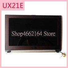 UX21E LCD תצוגת מסך הרכבה עליון חצי סט עבור Asus UX21E מחשב נייד LCD digitizer תצוגת מסך עם מסגרת נבדק עבודה