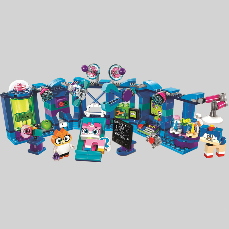 BELA-Cartoon-Colorful-TV-Unikitty-Cat-Dr-Fox-Laboratory-Building-Block-Bricks-Toys-Compatible-Legoings-Christmas_