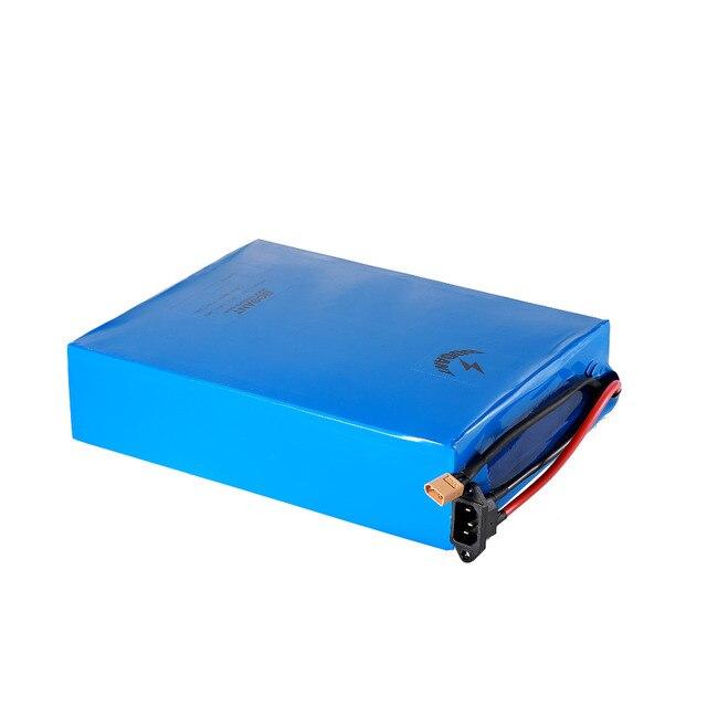Batterie électrique de scooter de la batterie 13 S 48 V de Lithium de bicyclette de 48 v 20Ah 1500 W pour la cellule de Panasonic 18650 intégrée dans le chargeur de 50 ampères BMS + 5A