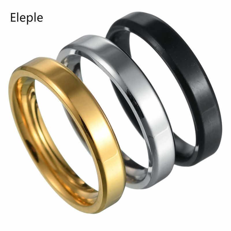 Eleple Classic Stainless Steel Simple Rings For Women Men