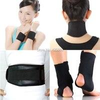 Turmalina auto calefacción terapia magnética cintura Muñequeras tobillo magnética Masajeadores de cuello cinturón almohadilla masaje